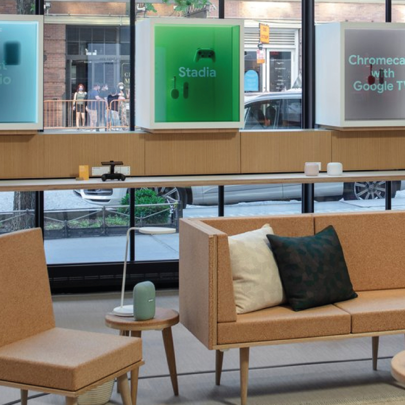 interni negozio fisico google new york