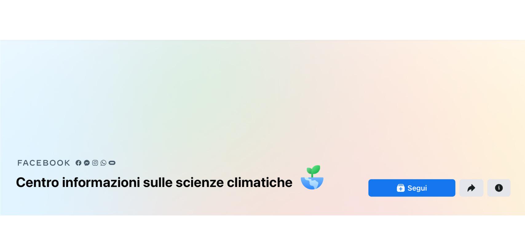banner Facebook ricerca sulle scienze climatiche