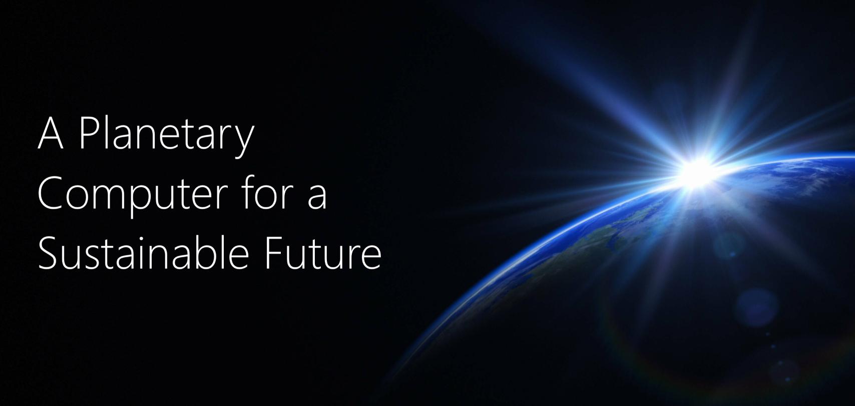 microsoft banner sulla sostenibilità