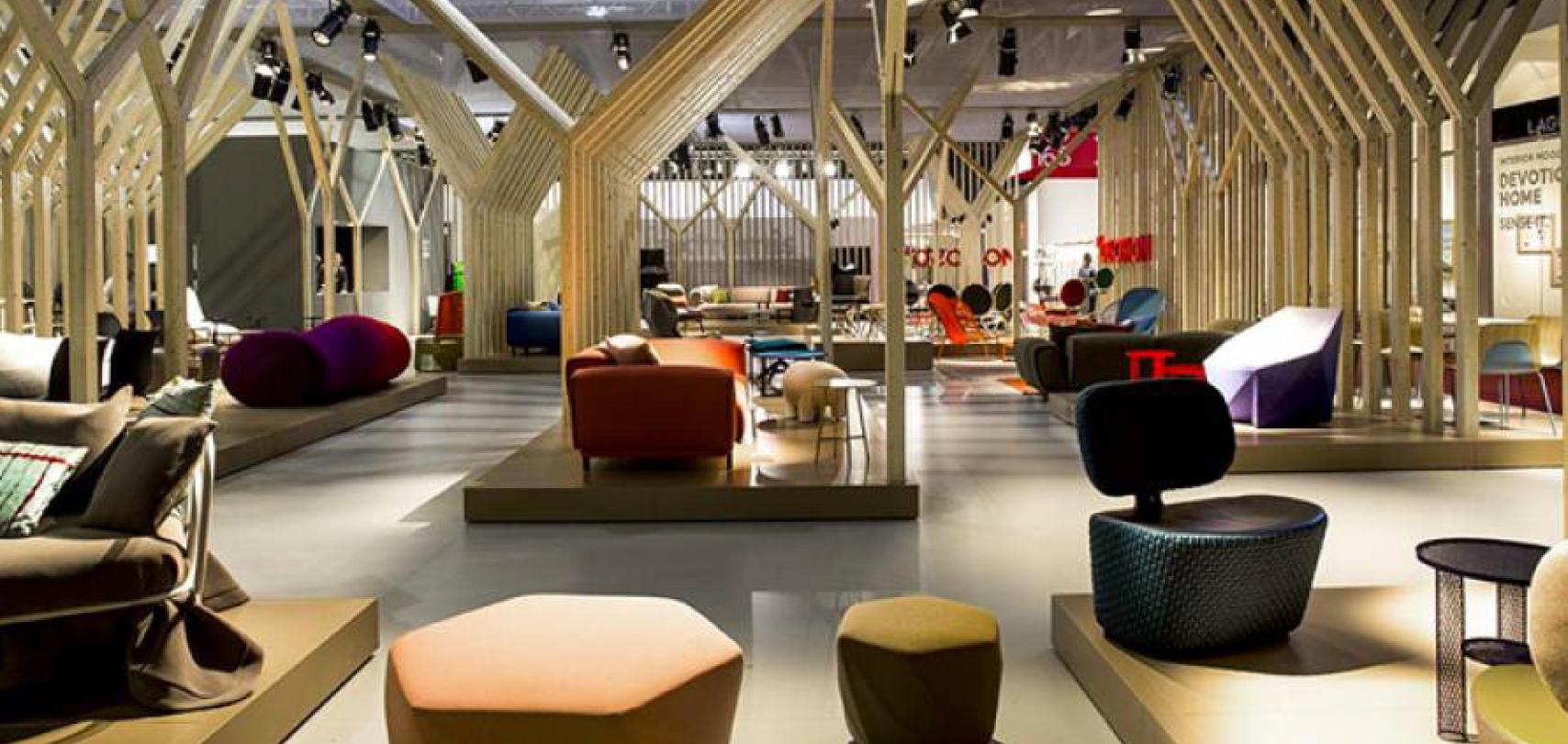 visione d'insieme salone del mobile Milano 2021